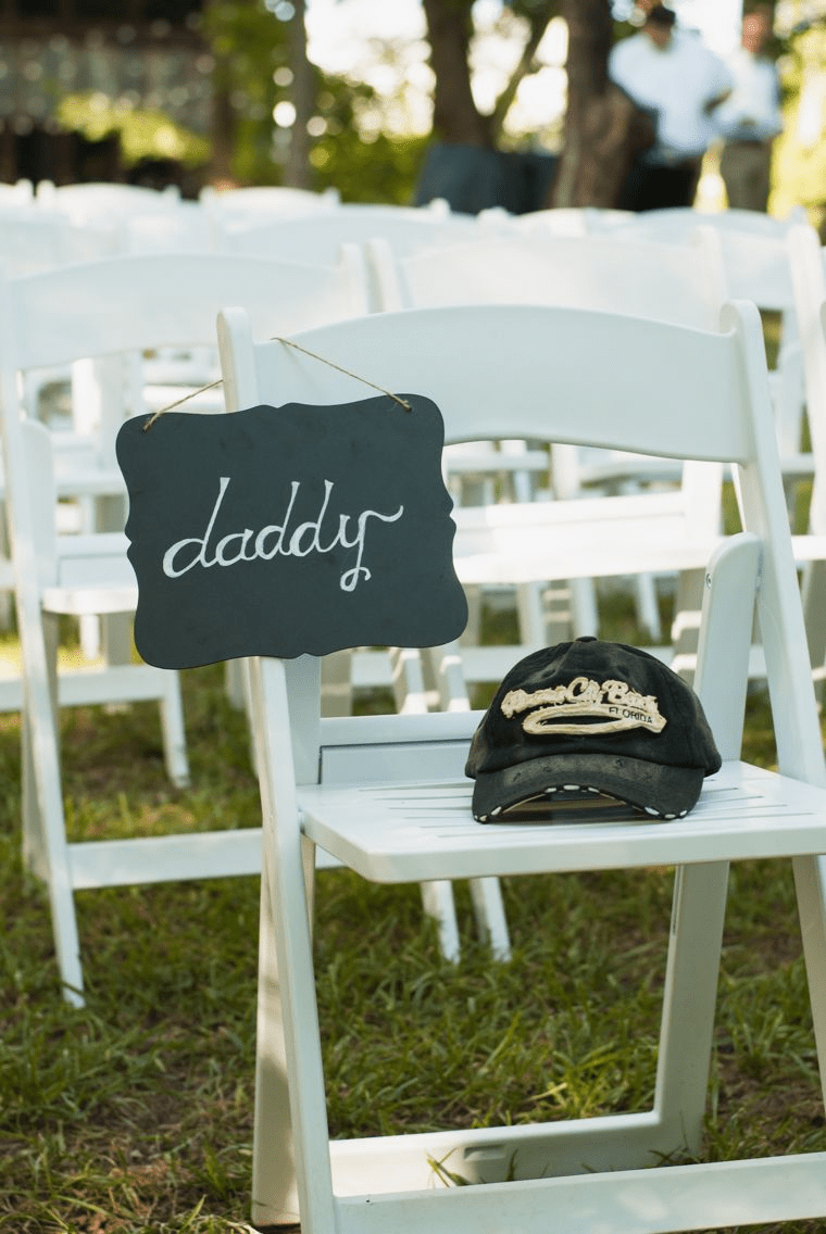 reserved ceremony memory chair